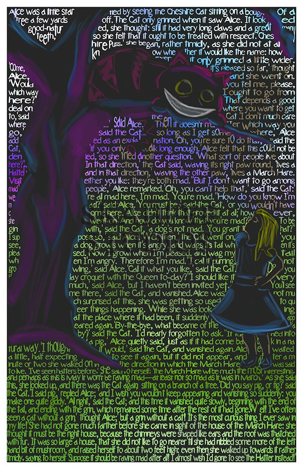 Alice and the Cheshire Cat - Click Image to Close