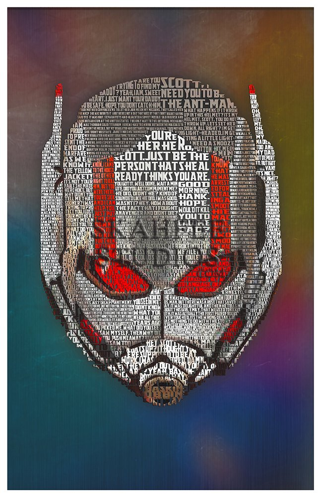 Ant-Man Typography Print - Click Image to Close