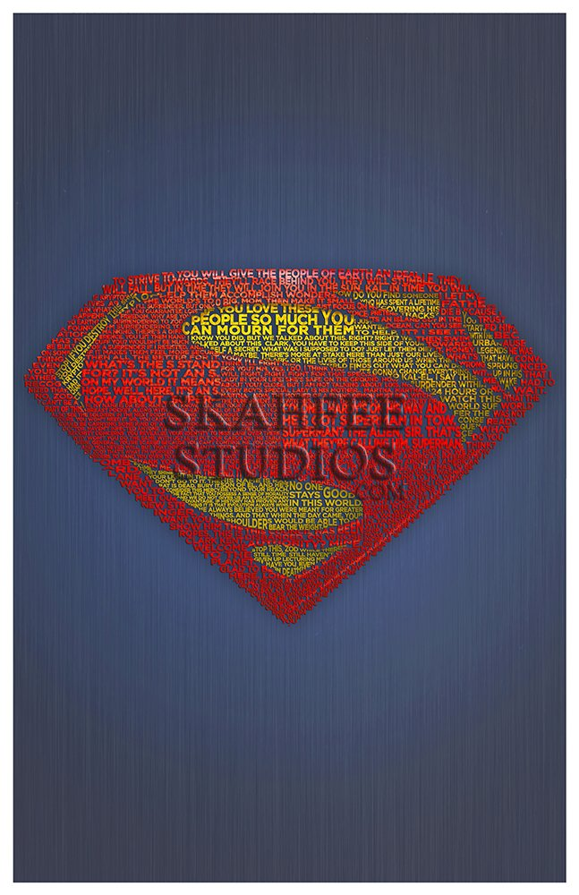 Superman Typography Print - Click Image to Close
