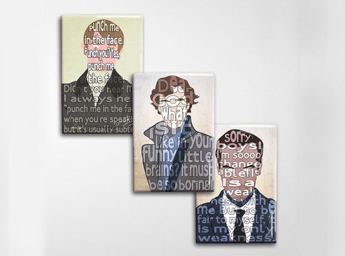 Sherlock Art Magnet Set