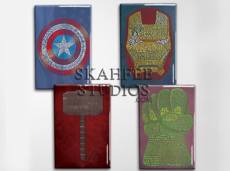 Avengers Art Magnet Set - Click Image to Close