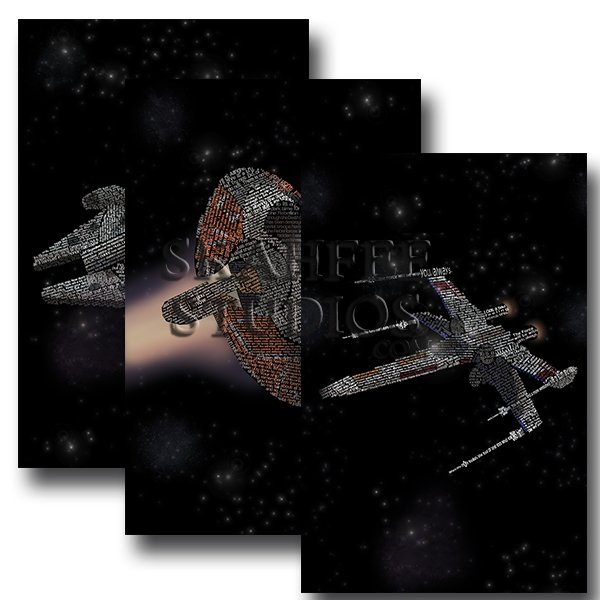 Star Wars Ships Three Set - Click Image to Close